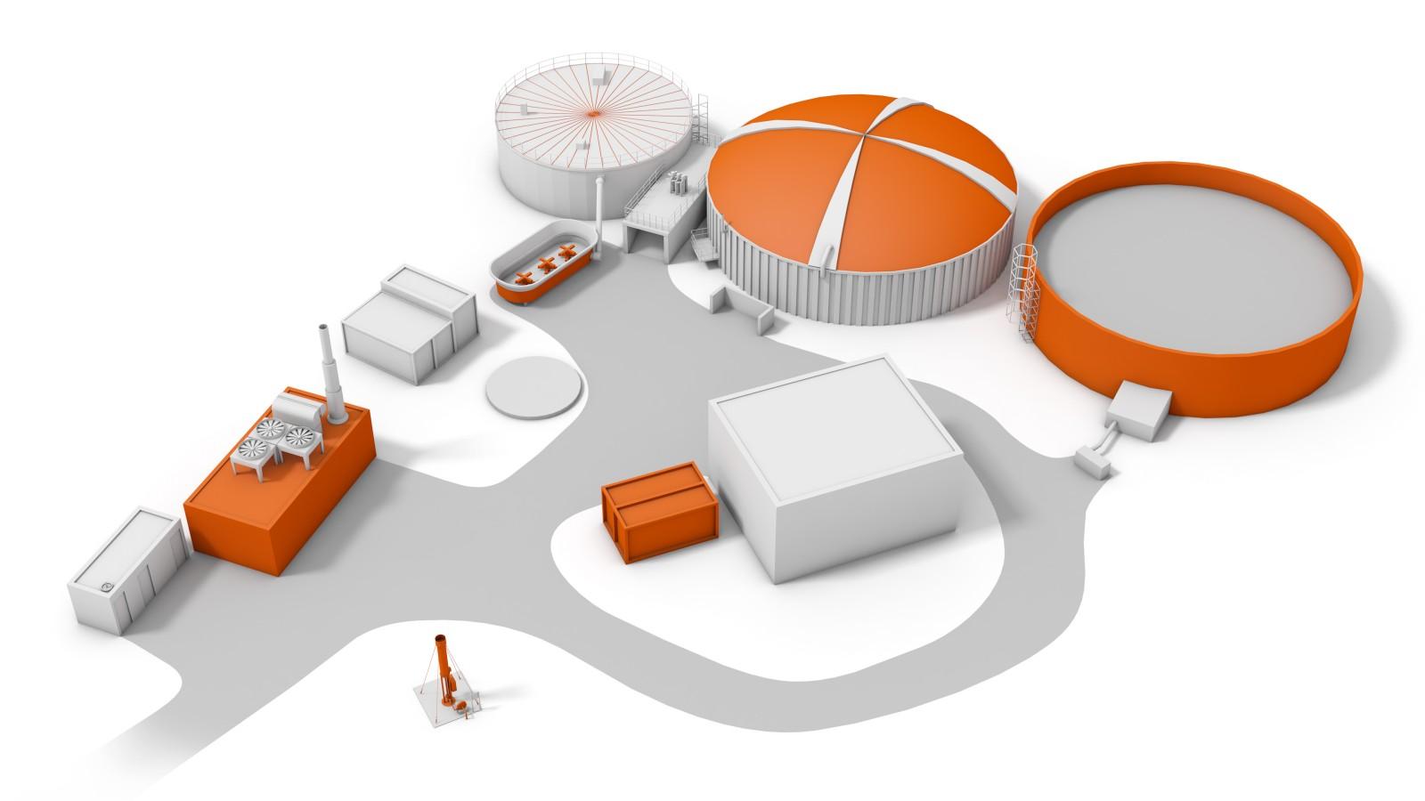 Ez Virtual Tour Biogas Power Station Ov Plant Diagram Aerial View Of The